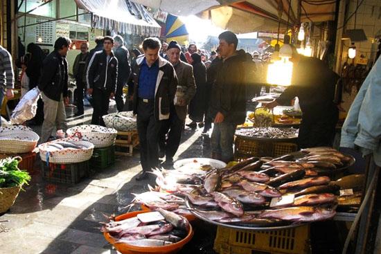 عکس بازار رشت