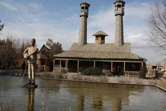 تصویر مسجد چوبی