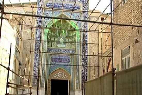 حمام و باغ فین و چشمه سلیمانیه دیواره باغ